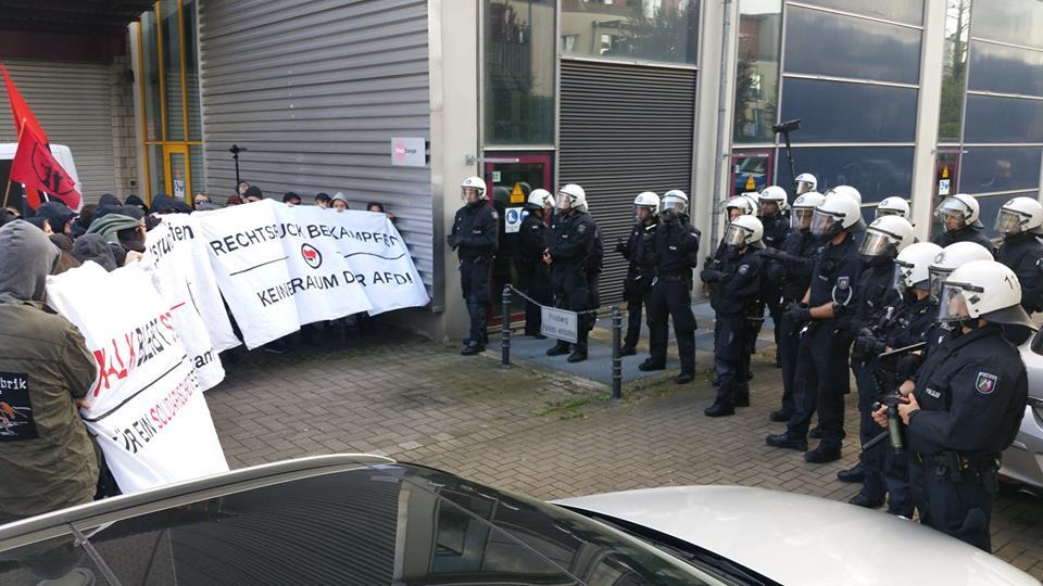 Bericht von Aktionen gegen die AFD am 07.04