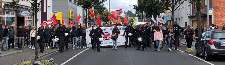 Kurzbericht zu den Protesten in Mönchengladbach am 08.09