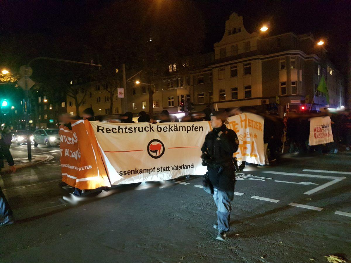 Kurzbericht: Antifaschistische Mobilisierung gegen rechte Burschenschaft und Werteunion