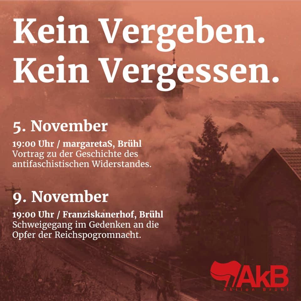 Gedenken an die Opfer der Reichsprogromnacht in Brühl