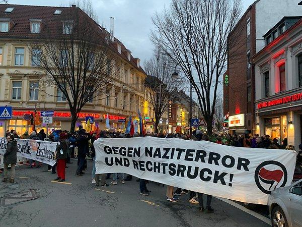 Proteste wegen faschistischem Anschlag in Hanau