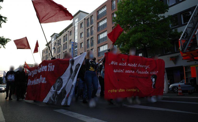 Solidarität mit dem Roten Aufbau! Weg mit §129 a/b